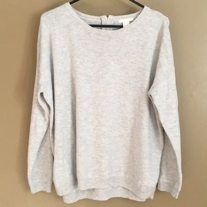 H&M Light Zipper-Back Sweater